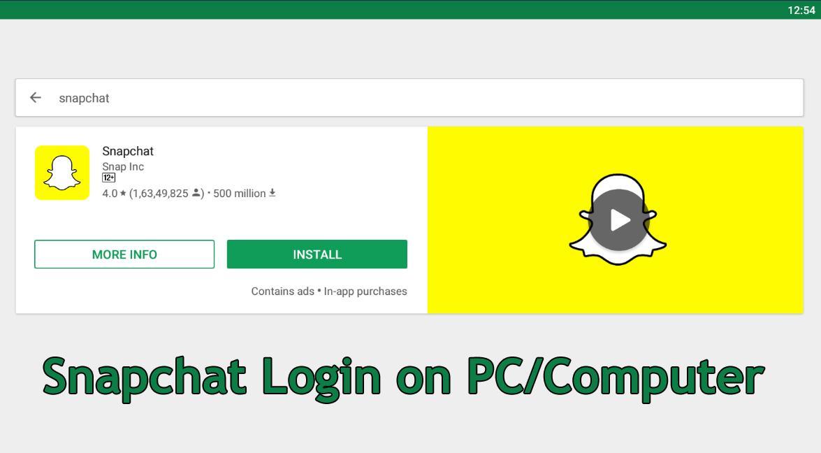 snapchat install pc