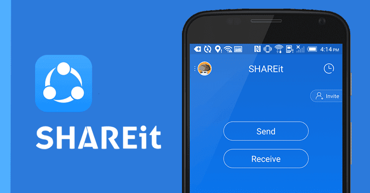 Shareit app for files sharing